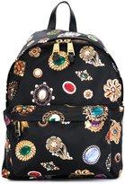 Moschino jewel print backpack