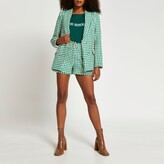 Thumbnail for your product : River Island Womens Green boucle blazer