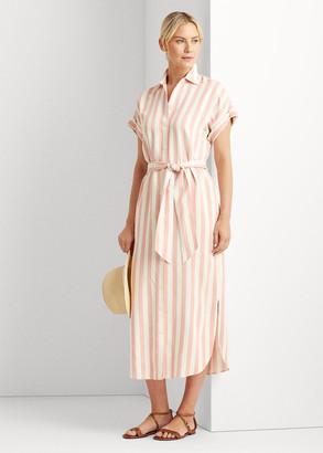 Ralph Lauren Striped Twill Shirtdress