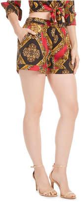 GUESS Lelyn Printed Satin Shorts