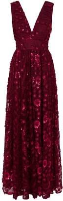 Ted Baker Dayya Double Layer Glitter Maxi Dress