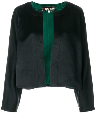 Fendi Pre Owned Collarless Cropped Jacket
