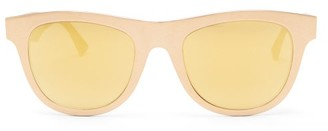 Bottega Veneta D-frame Metal Sunglasses - Gold