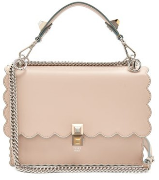 Fendi Kan I Leather Cross Body Bag - Womens - Light Pink