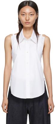 Maison Margiela White Cotton Poplin Backless Shirt