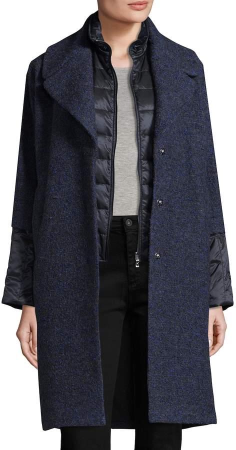 Bogner Women's Gloria Notch Quilted Coat