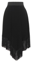 Dolce & Gabbana Crêpe skirt with fringe