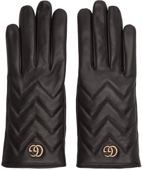 dbc84e56a Black GG Marmont Gloves