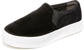 Sam Edelman Lacey Velvet Slip On Sneakers