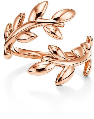 Tiffany & Co. Paloma Picasso Olive Leaf bypass ring in 18k rose gold