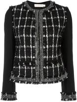 Tory Burch round neck embellished jacket - women - Cotton/Acrylic/Polyester/other fibers - 2