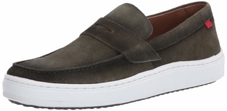 Marc Joseph New York Men's Leather Made in Brazil Luxury Comfortable Penny Detail Sneaker