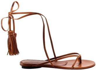 L'Autre Chose Wrap-Tie Flat Sandals