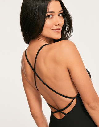 Figleaves Icon Lucia Non-Wired Strappy Back Shaping Swimsuit