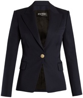 Balmain Single-breasted peak-lapel wool blazer