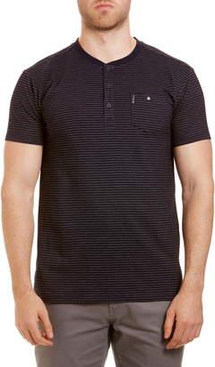 Ben Sherman Stripe Cotton Henley T-Shirt