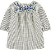 Bonpoint Embroidered check print dress