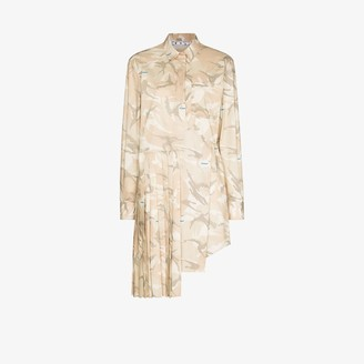 Off-White X Browns 50 camouflage print shirt dress