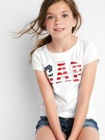 Gap Americana logo short sleeve tee