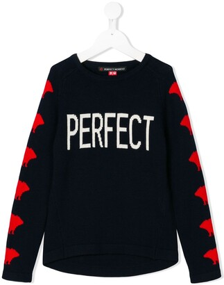 Perfect Moment Kids Perfect intarsia jumper