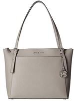 MICHAEL Michael Kors Voyager Large East/West Top Zip Tote (Pearl Grey) Tote Handbags