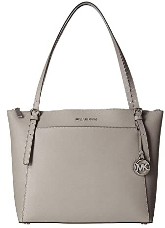 Michael Michael Kors Voyager Large East West Top Zip Tote Pearl Grey Tote Handbags Shopstyle