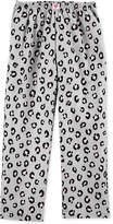 Carter Big Girls Leopard-Print Fleece Pajama Pants