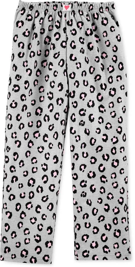 Carter's Carter Big Girls Leopard-Print Fleece Pajama Pants