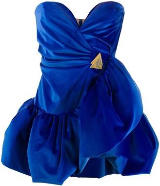 ATTICO Bodice Flared Mini Dress