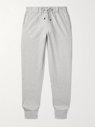 Zimmerli Tapered Fleece-Back Stretch-Cotton Sweatpants