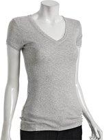 heather grey jersey layered v-neck t-shirt
