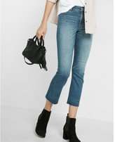 Express high waisted bell cropped jeans