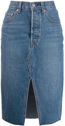 Levi's front slit denim skirt