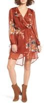 Band of Gypsies Floral Print Chiffon Dress