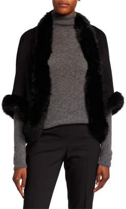 BCBGMAXAZRIA Faux-Fur Cocoon Shrug