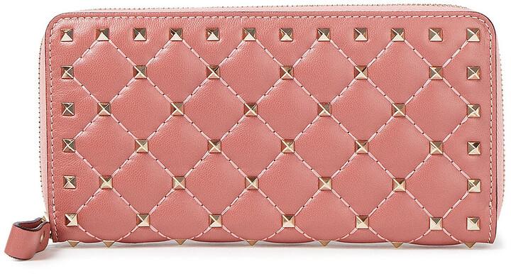 Valentino Garavani Rockstud Spike Quilted Leather Wallet