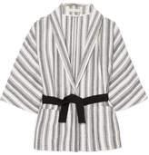 Vanessa Bruno Iles Belted Striped Cotton-canvas Jacket