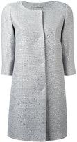 Herno three-quarters sleeve midi coat - women - Acrylic/Polyester/Acetate/Viscose - 42