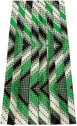 Gucci Chevron print silk skirt