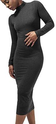 Urban Classic Women's Ladies Turtleneck L/S Dress34 (Size: XS)
