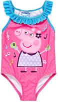 Asstd National Brand Peppa Pig One Piece Swimsuit Toddler Girls