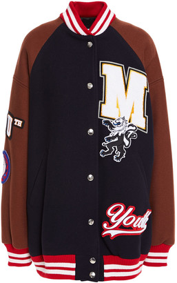 MSGM Appliqued Wool-blend Twill Bomber Jacket