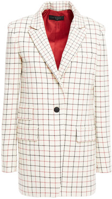 Rag & Bone Checked Wool-blend Blazer