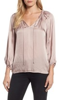 Velvet by Graham & Spencer Women's Tie Neck Satin Blouse