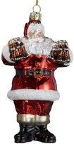 Kurt Adler Coca-Cola Glass Santa Ornament, 5-Inch