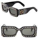 Gucci Pearly 50MM Rectangular Sunglasses