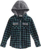 Epic Threads Contrast Hooded Cotton Shirt, Little Boys, Created of Macy's