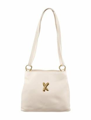 Paloma Picasso Leather Logo Shoulder Bag Gold