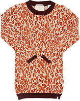 Scotch R'Belle LEOPARD-PRINT COTTON-WOOL SWEATERDRESS