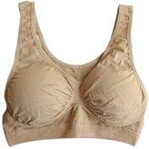 Vogue of Eden Women's Seamless Stretchy Cotton Wire-Free Sports Bra